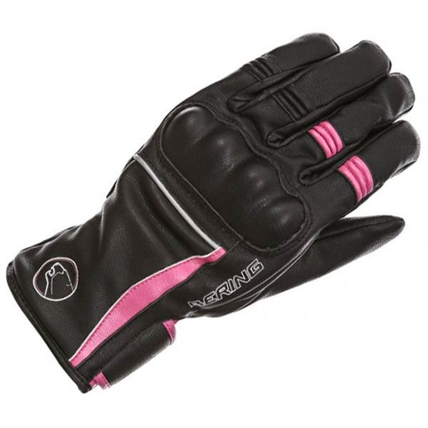 Bering Polka Gloves Ladies - Black/Pink
