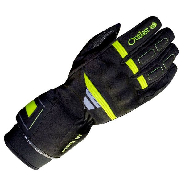 Merlin Titan Outlast Waterproof Gloves Mens - Black/Fluo Yellow
