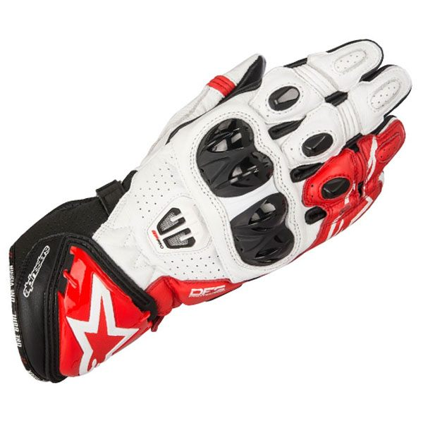 Alpinestars GP Pro R2 Leather Gloves - Black/White/Red