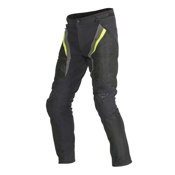 Dainese Drake Super Air Trousers - Black/Fluo Yellow/Grey