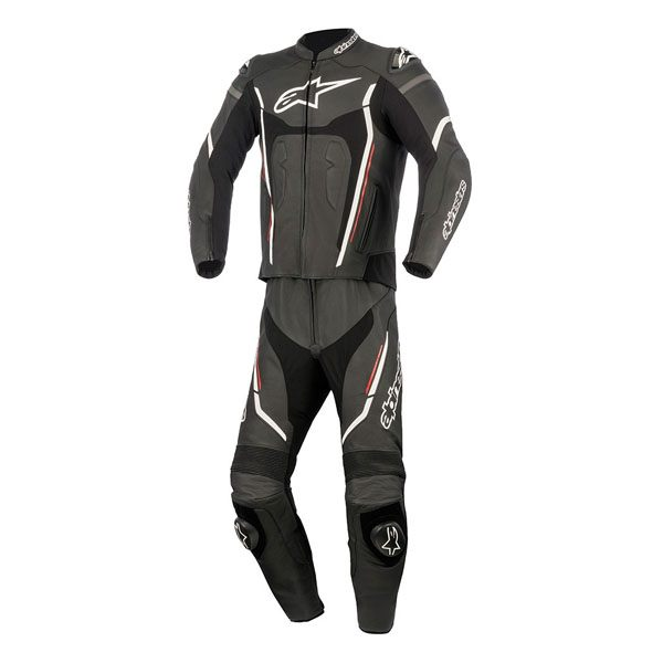 Alpinestars Motegi V2 2pc Leather Suit - Black/White/Red
