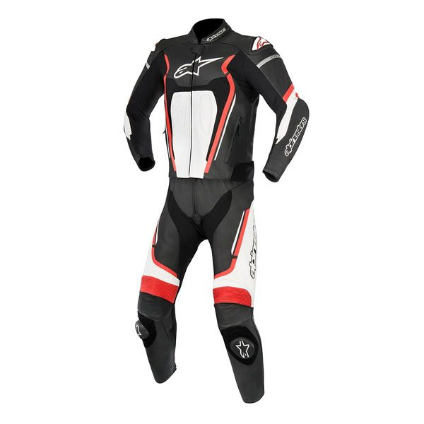 Alpinestars Motegi V2 2 Piece Leather Suit - Black/Red/White