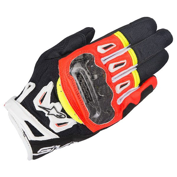 Alpinestars SMX-2 Air Carbon V2 Gloves -Black/Red/White/Fluo