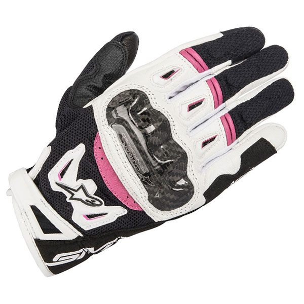 Alpinestars SMX-2 Air Carbon V2 Ladies Gloves -Black/White/Fuchsia