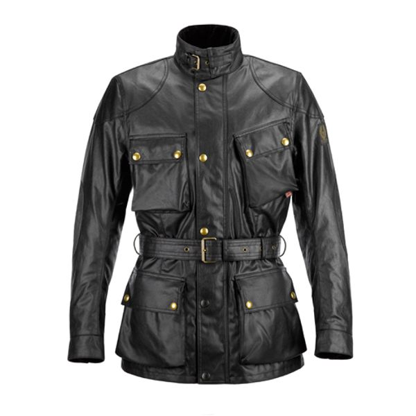 Belstaff Classic Tourist Trophy Wax Cotton Mens Jacket - Black