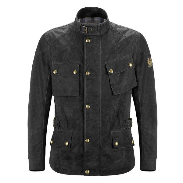 Belstaff Crosby Soy Waxed Cotton 6oz Jacket - Black