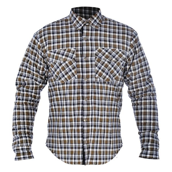 Oxford Kickback Checker Shirt - Khaki/White