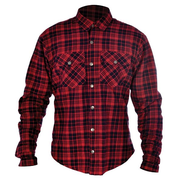 Oxford Kickback Checker Shirt - Red/Black