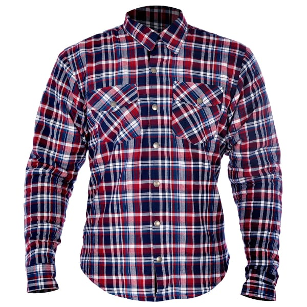 Oxford Kickback Checker Shirt - Red/Blue