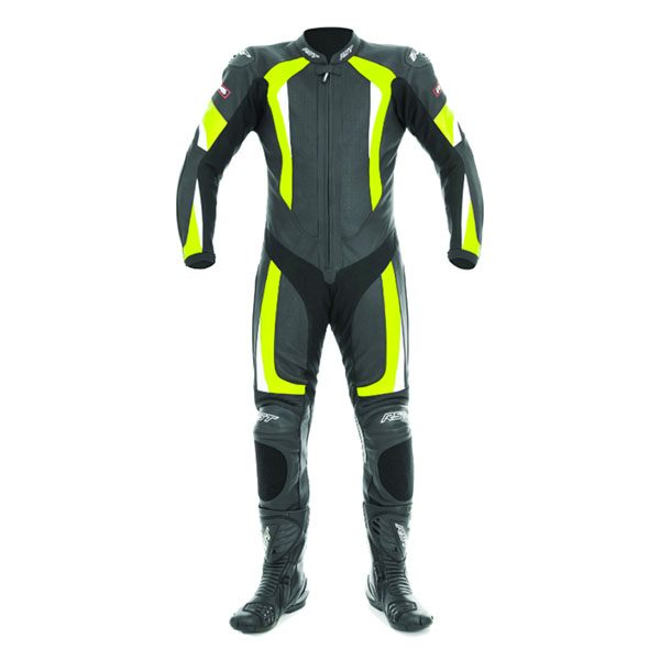 RST - R-16 Leather Suit (Black/Fluo Yellow)