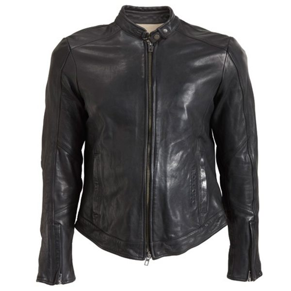 Rokker Street Leather Jacket - Black