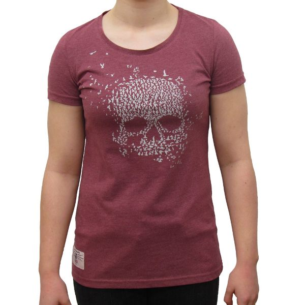 Red Torpedo Mean Bird Ladies T-Shirt - Pink