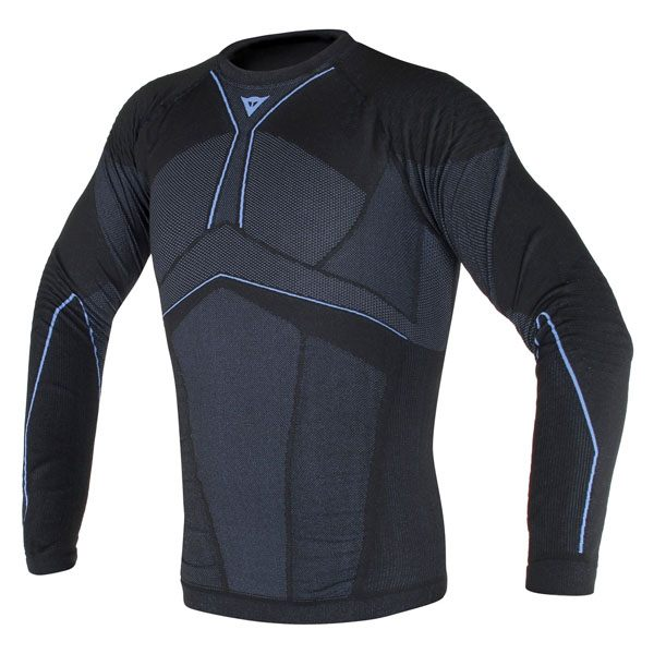 Dainese D-Core Aero Top Long Sleeve - Black/Cobalt/Blue