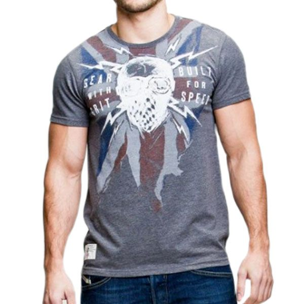 Red Torpedo Geared Blighty T-shirt - Graphite