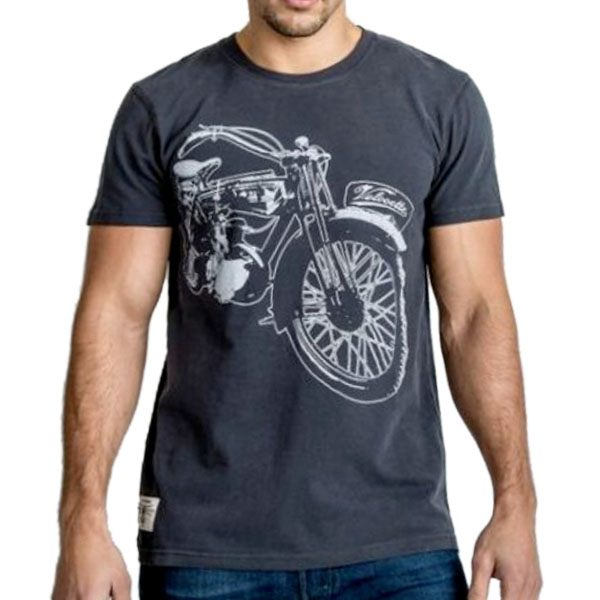 Red Torpedo Velo Vintage T-Shirt - Black/Grey