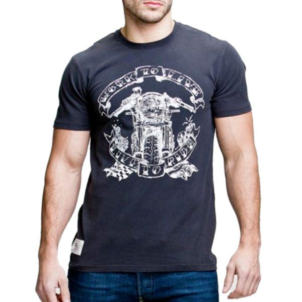 Red Torpedo Live To Ride T-Shirt - Black