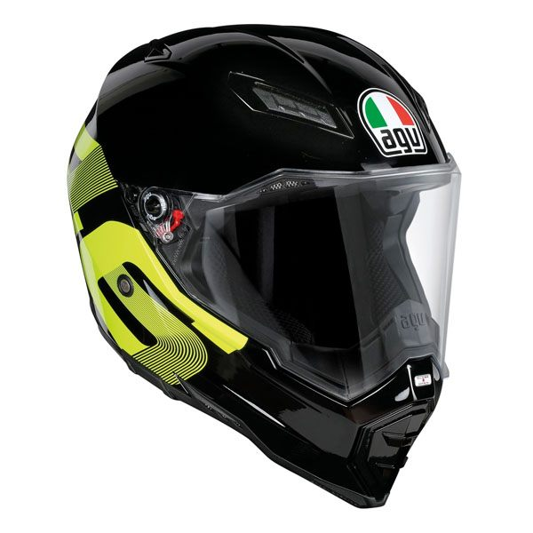 AGV AX8 Evo Naked - Identity 46 Black/Yellow