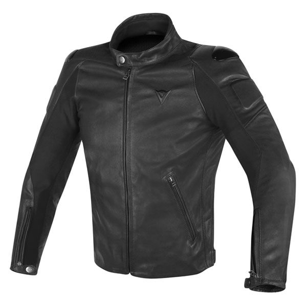 Dainese Street Darker Leather Jacket - Black