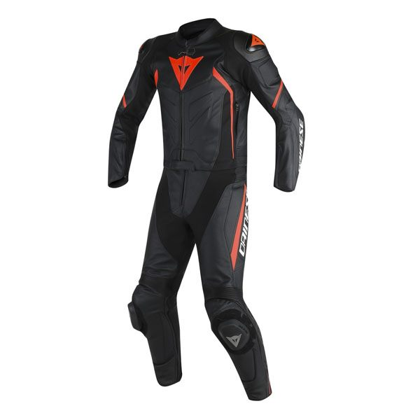 Dainese Avro D2 2 Piece Suit - Black/Fluo Red