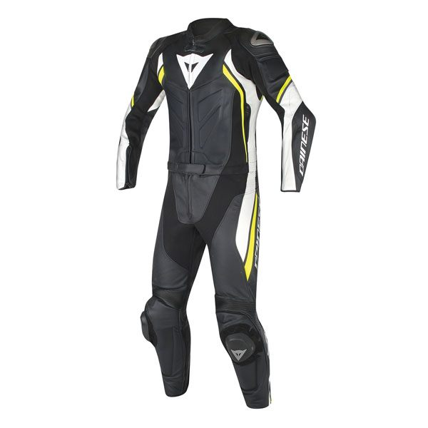 Dainese Avro D2 2 Piece Suit - Black/White/Fluo Yellow