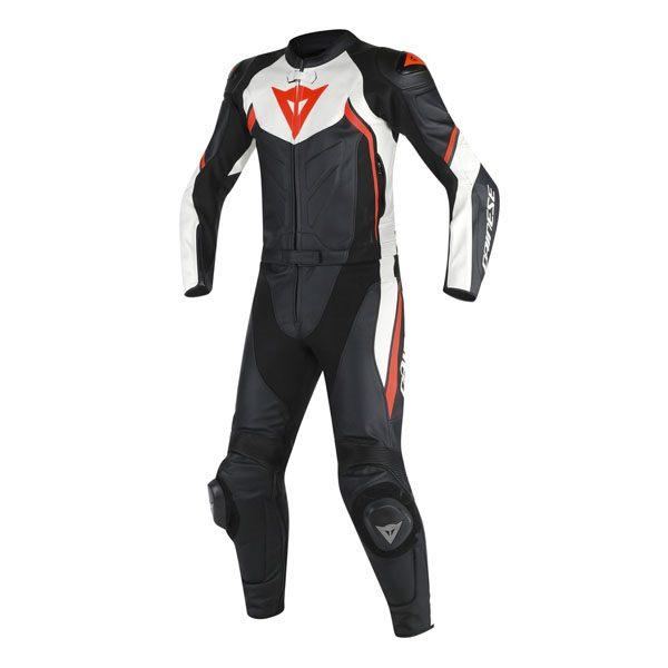 Dainese Avro D2 2 Piece Suit - Black/White/Fluo Red