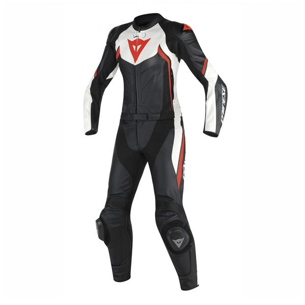 Dainese Avro D2 Ladies 2 Piece Suit - Black/White/Fluo Red