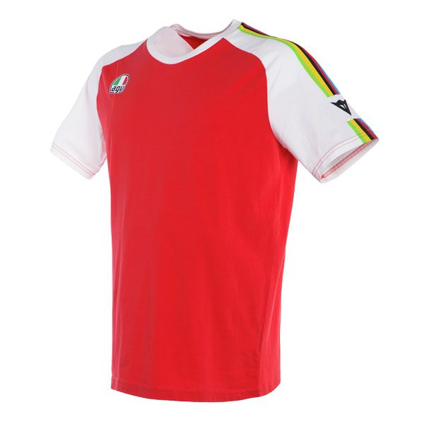 Dainese AGO-1 T-Shirt - White/Red