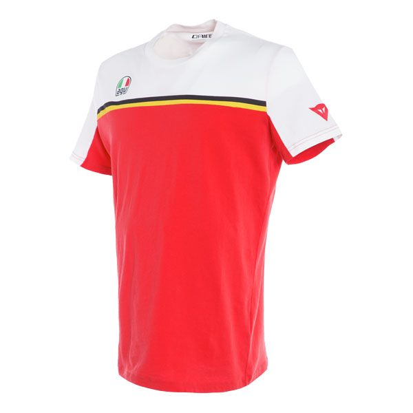 Dainese Fast-7 T-Shirt - White/Red
