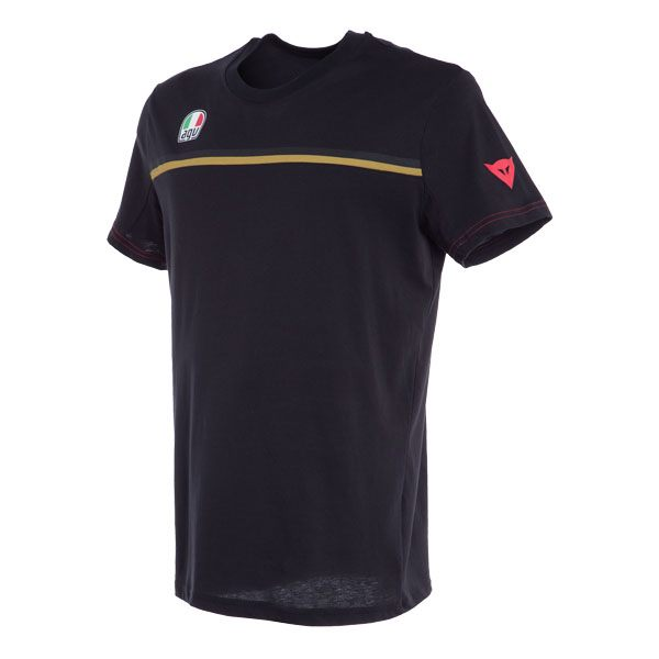 Dainese Fast-7 T-Shirt - Black/Gold