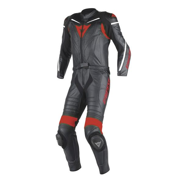 Dainese Laguna Seca D1 2 Piece Suit - Black/Fluo Red
