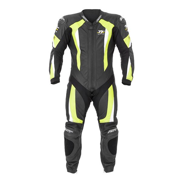RST IOM TT 1761 R-16 Mens Leather 1pc Suit - Fluorescent Yellow