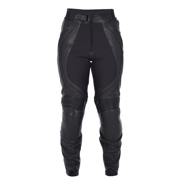 Oxford Boulevard WS Leather Jeans - Gloss Black