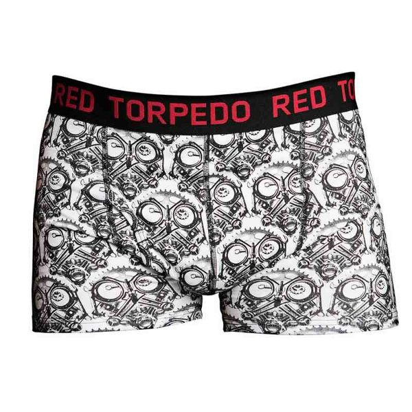 Red Torpedo Petrol Head Underwear - Black/White