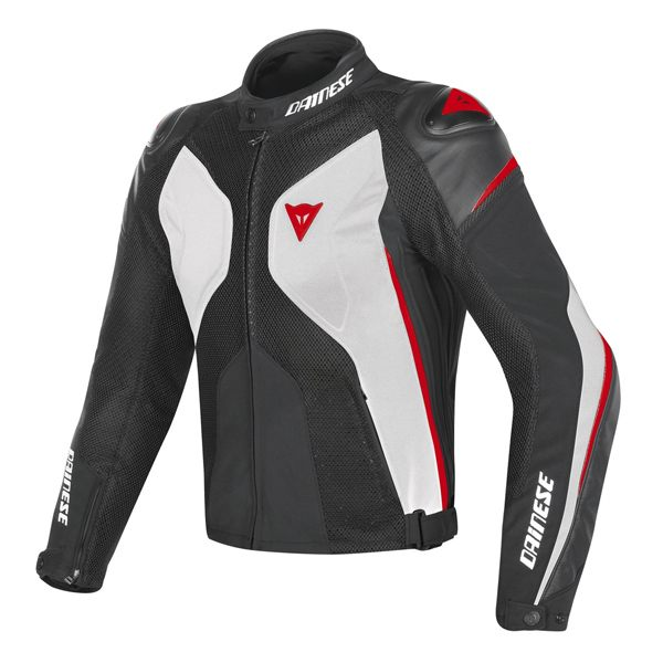 Dainese Super Rider D-Dry Jacket - White/Black/Red