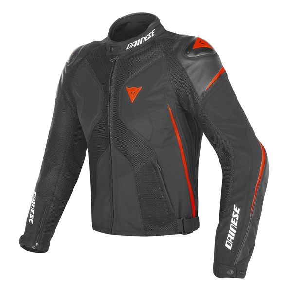 Dainese Super Rider D-Dry Jacket - Black/Fluo Red