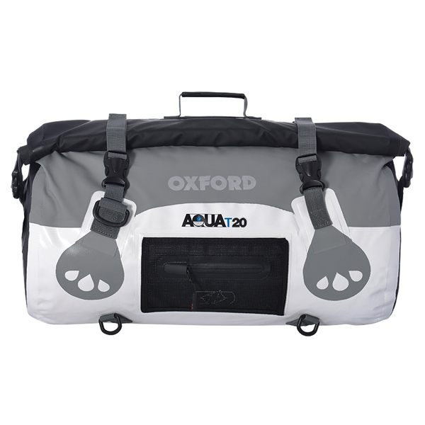 Oxford Aqua T-20 Roll Bag - White/Grey