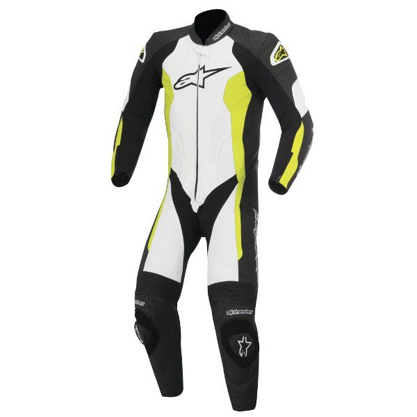 Alpinestars Challenger 1 Piece Leather Suit - Black/White/Yellow