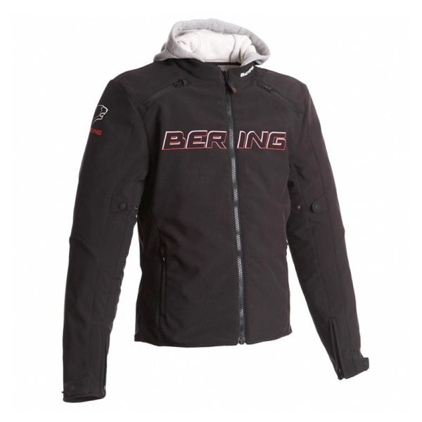 Bering Jaap Evo Waterproof Mens Jacket - Black/Red