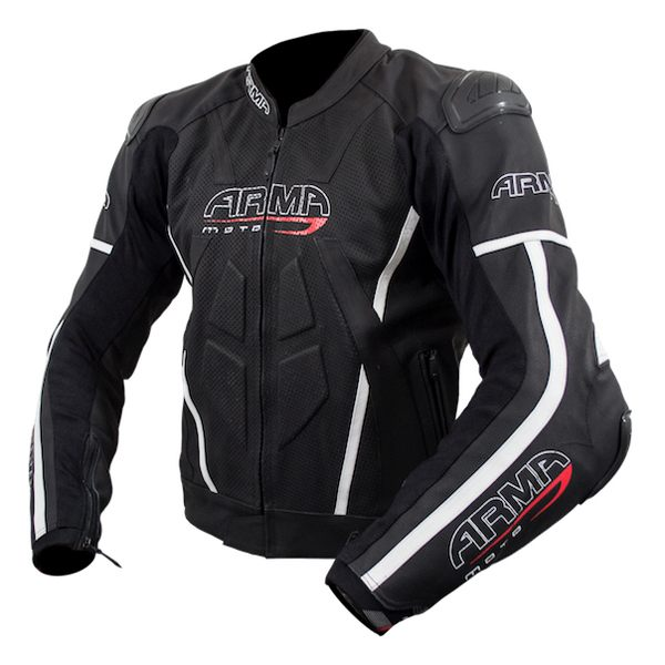 ARMR Moto Raiden 2 Leather Jacket - Black/White