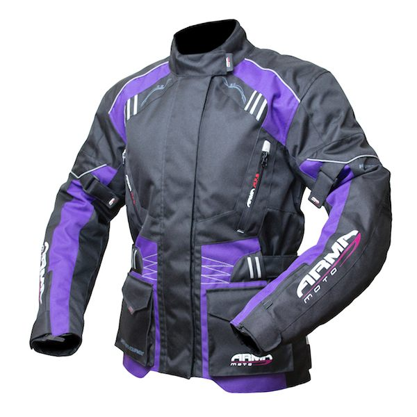 ARMR Moto Kiso 2 Ladies Jacket - Black/Plum