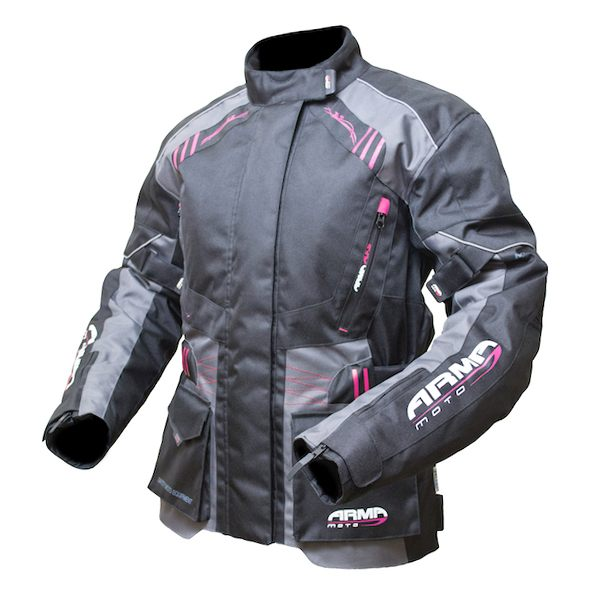 ARMR Moto Kiso 2 Ladies Jacket - Black/Grey/Fuchsia