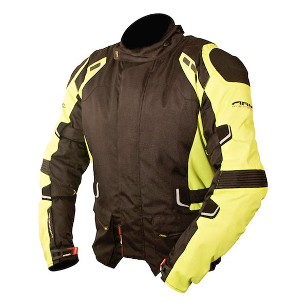 ARMR Moto Kumaji Jacket - Black/Fluo Yellow