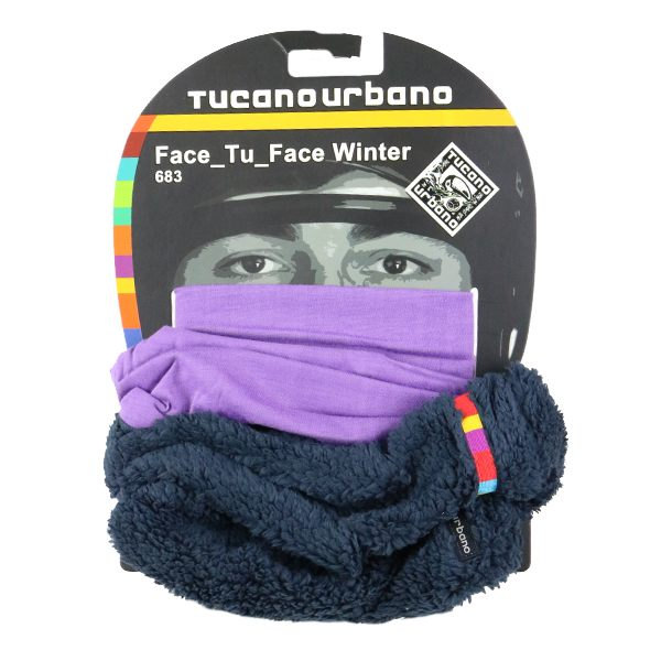 Tucano Urbano Face Tu Face Winter Collar - Sheepskin Purple