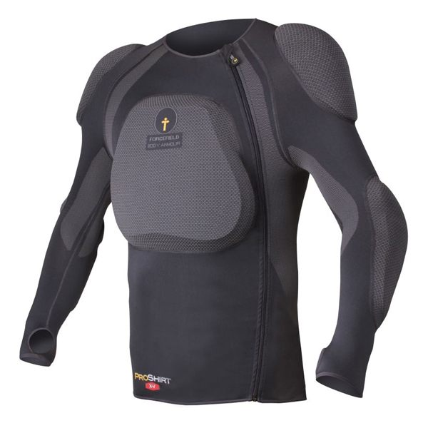 Forcefield Pro Shirt X-V with L2 Back Insert - Dark Grey