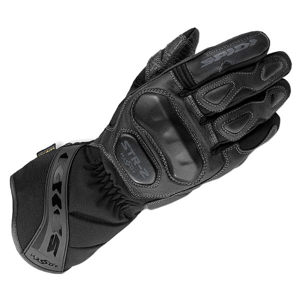 Spidi STR-2 H2OUT Waterproof Leather Gloves - Black