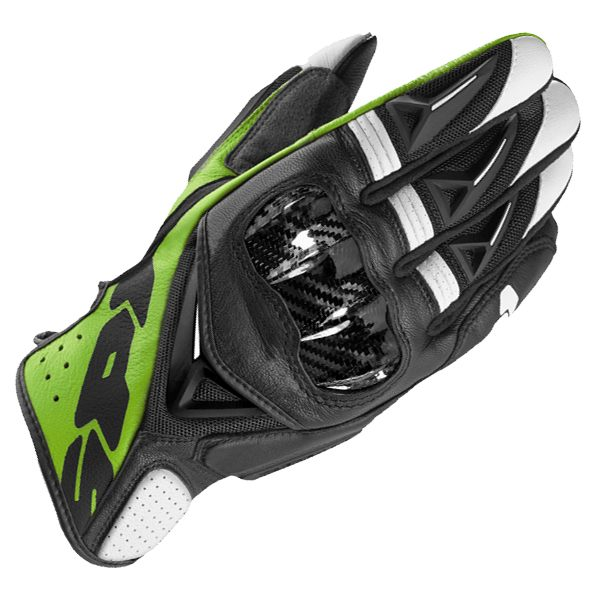 Spidi STR-3 Vent Coupe Leather Gloves - Black/Green