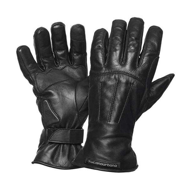 Tucano Urbano Softy Touch Leather Gloves - Black