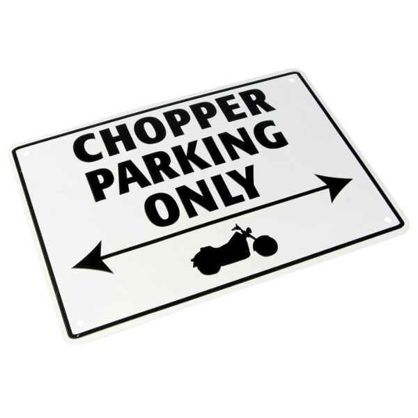 Bike It Parking Sign - Chopper Parking Only