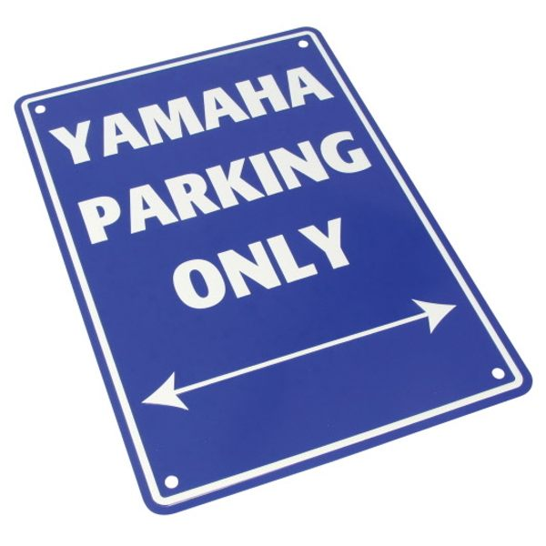 Bike It Parking Sign - Yamaha Parking Only