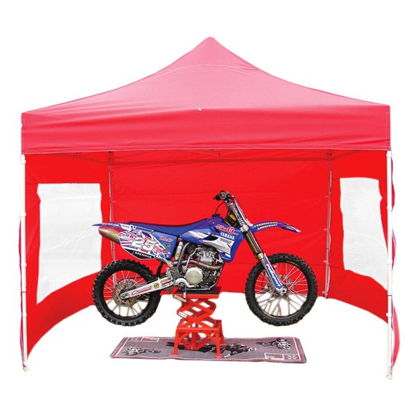 Bike It Quick-Up Awning 3x3m With 4 Side Walls - Red